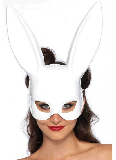 Bunny Masquerade Mask in White at Cosplay Costume Closet Halloween Shop, Halloween Cosplay Costumes | Kids, Adult & Plus Size Halloween Costumes