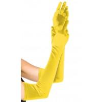 Yellow Satin Extra Long Opera Gloves