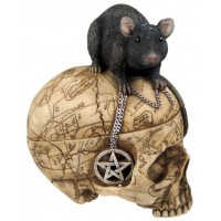 Salem Witch Skull and Mouse Box