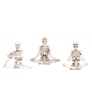 Yoga Skeletons Set of 3 Statues Cosplay Costume Closet Halloween Shop Halloween Cosplay Costumes | Kids, Adult & Plus Size Halloween Costumes