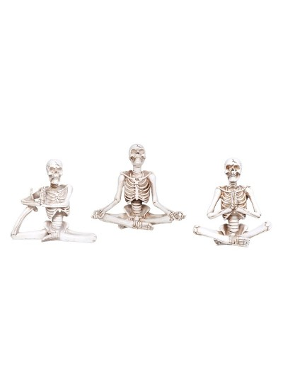 Yoga Skeletons Set of 3 Statues at Cosplay Costume Closet Halloween Shop, Halloween Cosplay Costumes | Kids, Adult & Plus Size Halloween Costumes