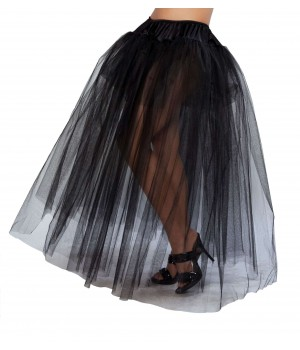 Black Full Length Tulle Skirt Cosplay Costume Closet Halloween Shop Halloween Cosplay Costumes | Kids, Adult & Plus Size Halloween Costumes