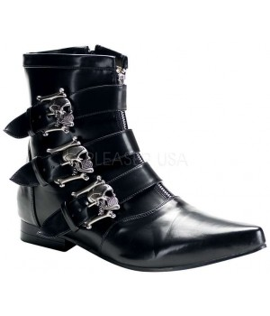 Skull Buckle Brogue Ankle Boot Cosplay Costume Closet Halloween Shop Halloween Cosplay Costumes | Kids, Adult & Plus Size Halloween Costumes