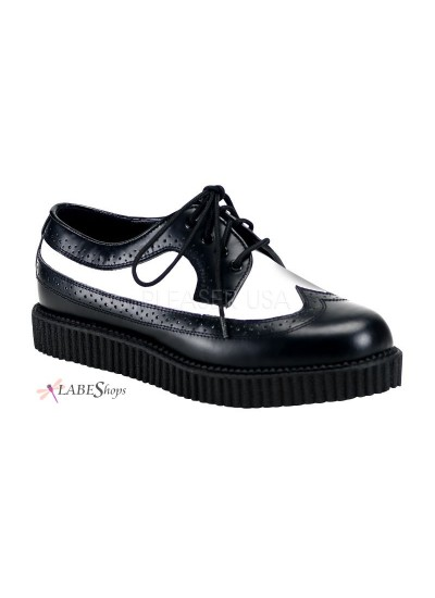 Rockabilly Mens Leather Creeper Loafer at Cosplay Costume Closet Halloween Shop, Halloween Cosplay Costumes | Kids, Adult & Plus Size Halloween Costumes