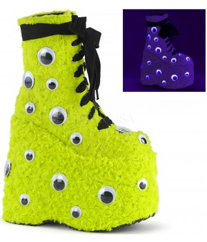 Slay Lime Green Googly Eye Platform Boots Cosplay Costume Closet Halloween Costume Shop Halloween Cosplay Costumes | Kids, Adult & Plus Size Halloween Costumes