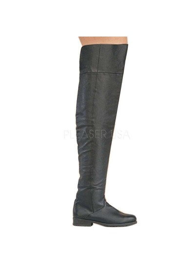 Maverick Unisex Flat Thigh High Pirate Boot at Cosplay Costume Closet, Halloween Cosplay Costumes Shop | Kids, Adult & Plus Size Costumes
