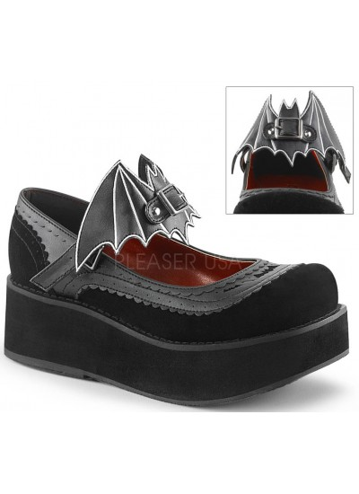 Bat Sprite Black Platform Mary Jane Shoe at Cosplay Costume Closet Halloween Costume Shop, Halloween Cosplay Costumes | Kids, Adult & Plus Size Halloween Costumes