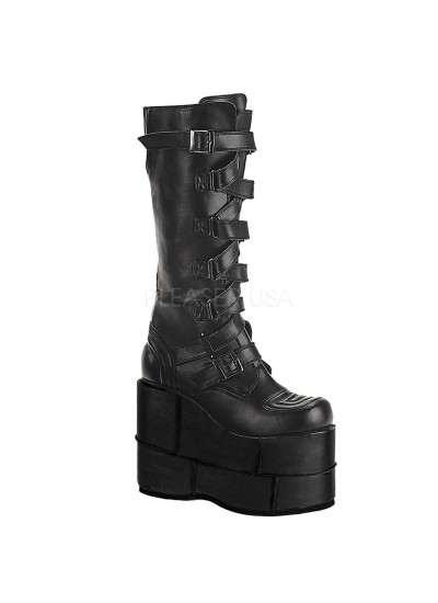 Mens Extreme Platform Knee Boot with Lace Up Strap at Cosplay Costume Closet Halloween Shop, Halloween Cosplay Costumes | Kids, Adult & Plus Size Halloween Costumes