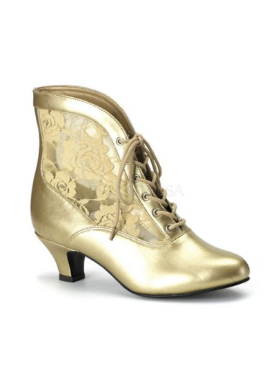 Victorian Dame Gold Ankle Boot at Cosplay Costume Closet Halloween Costume Shop, Halloween Cosplay Costumes | Kids, Adult & Plus Size Halloween Costumes