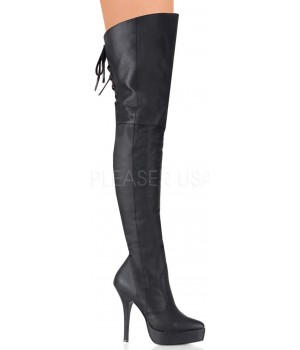 Indulge Leather Thigh High Platform Boot Cosplay Costume Closet Halloween Shop Halloween Cosplay Costumes | Kids, Adult & Plus Size Halloween Costumes