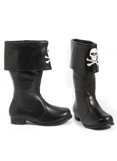 Childrens Pirate Boot with Embroidered Skull at Cosplay Costume Closet Halloween Shop, Halloween Cosplay Costumes | Kids, Adult & Plus Size Halloween Costumes