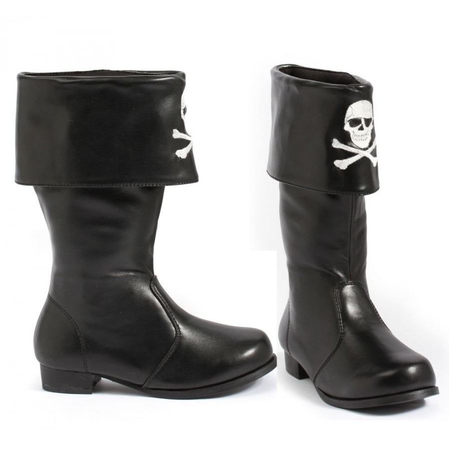 Childrens Pirate Boot with Embroidered Skull at Cosplay Costume Closet Halloween Cosplay Costumes | Kids  sc 1 st  Cosplay Costume Closet & Kids Pirate Boot with Skull and Crossbones - Pirate Costume Dress Up