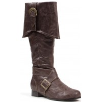 Mens Brown Pirate Captain Boots