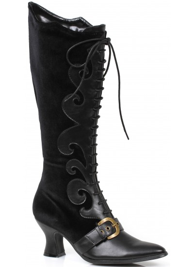 Fain Black Velvet Witches Boot at Cosplay Costume Closet Halloween Shop, Halloween Cosplay Costumes | Kids, Adult & Plus Size Halloween Costumes