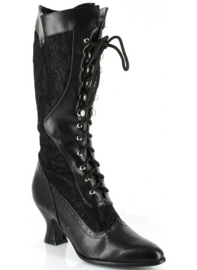 Rebecca Victorian Black Lace Boot at Cosplay Costume Closet Halloween Shop, Halloween Cosplay Costumes | Kids, Adult & Plus Size Halloween Costumes