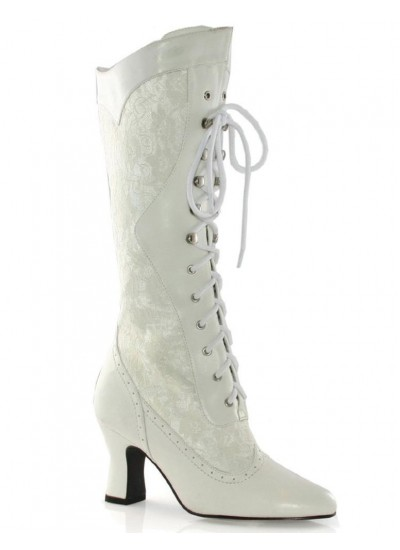 Rebecca Victorian White Lace Boot at Cosplay Costume Closet Halloween Shop, Halloween Cosplay Costumes | Kids, Adult & Plus Size Halloween Costumes