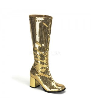 Spectacular Gold Sequin Covered Gogo Boots Cosplay Costume Closet Halloween Costume Shop Halloween Cosplay Costumes | Kids, Adult & Plus Size Halloween Costumes