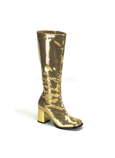 Spectacular Gold Sequin Covered Gogo Boots at Cosplay Costume Closet Halloween Shop, Halloween Cosplay Costumes | Kids, Adult & Plus Size Halloween Costumes