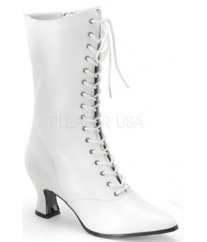 White Victorian Steampunk Ankle Boots Cosplay Costume Closet Halloween Shop Halloween Cosplay Costumes | Kids, Adult & Plus Size Halloween Costumes