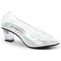 Crystal Clear Butterfly Cinderella Pump