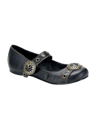 Steampunk Flat Mary Jane Shoe at Cosplay Costume Closet Halloween Shop, Halloween Cosplay Costumes   Kids, Adult & Plus Size Halloween Costumes
