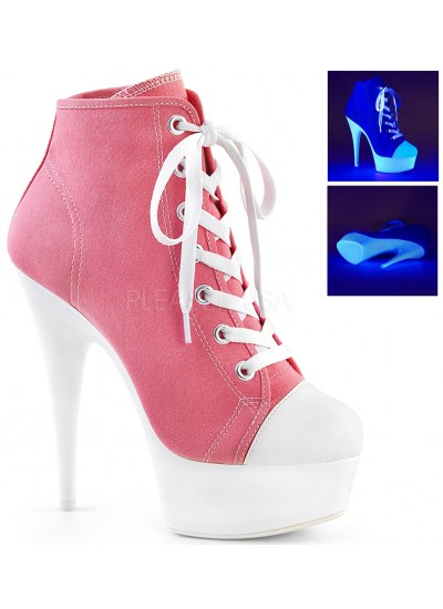 Pink and White High Heel Platform Sneaker at Cosplay Costume Closet Halloween Costume Shop, Halloween Cosplay Costumes | Kids, Adult & Plus Size Halloween Costumes