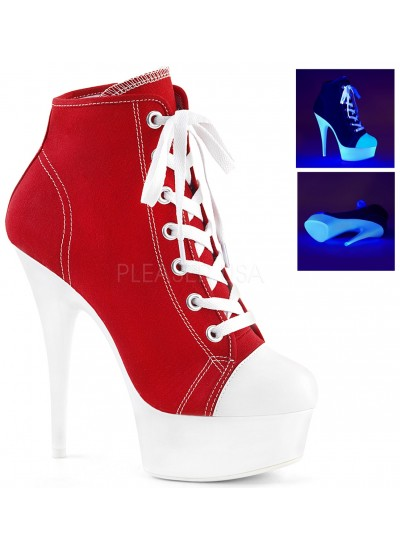 Red and White High Heel Platform Sneaker at Cosplay Costume Closet Halloween Costume Shop, Halloween Cosplay Costumes | Kids, Adult & Plus Size Halloween Costumes