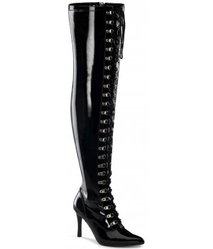 Dominatrix Wide Width Black Thigh High Boots Cosplay Costume Closet Halloween Shop Halloween Cosplay Costumes | Kids, Adult & Plus Size Halloween Costumes