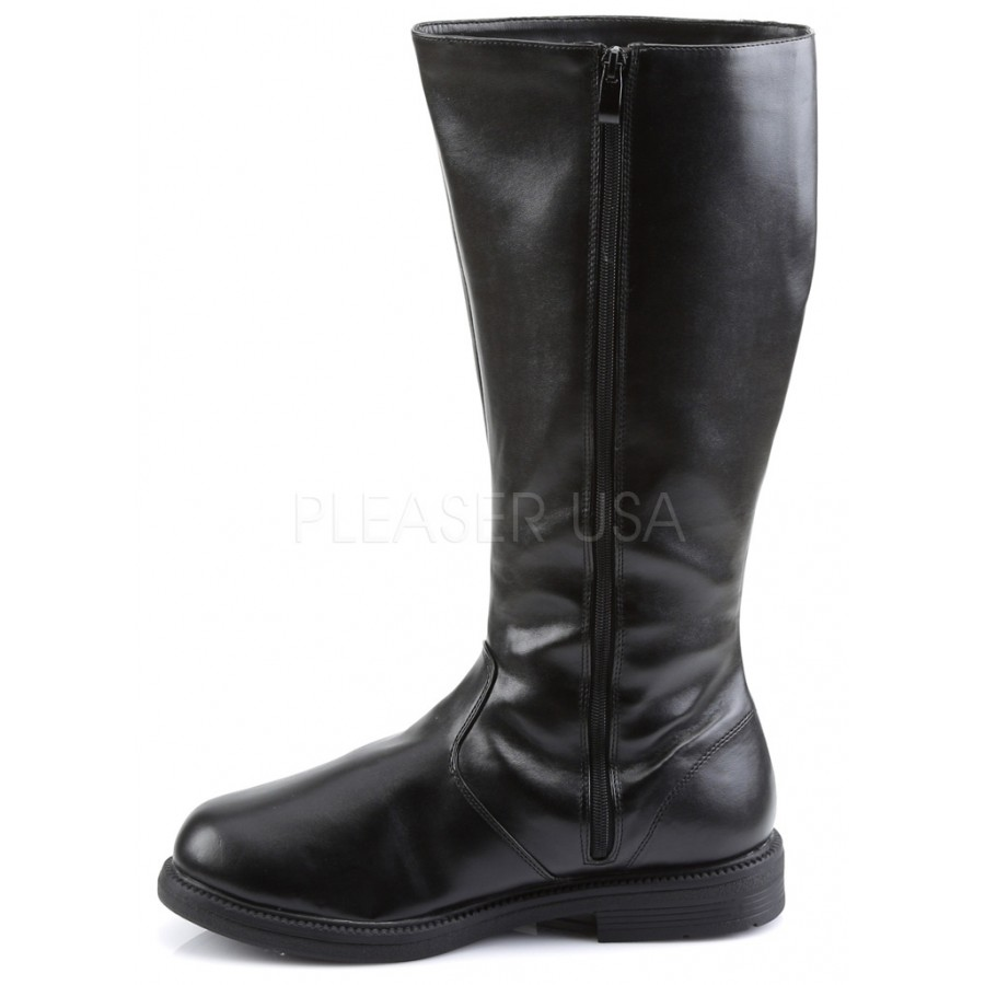 captain mid calf costume boots in black boots