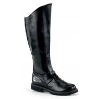 Gotham Knee High Plain Black Boots