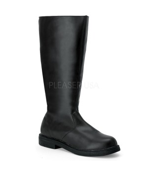Captain Mid Calf Plain Black Boots Cosplay Costume Closet Halloween Cosplay Costumes | Kids, Adult & Plus Size Halloween Costumes