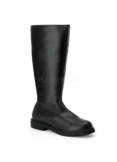 Captain Mid Calf Plain Black Boots at Cosplay Costume Closet Halloween Shop, Halloween Cosplay Costumes | Kids, Adult & Plus Size Halloween Costumes
