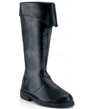 Captain Mid Calf Cuffed Black Boots Cosplay Costume Closet Halloween Cosplay Costumes | Kids, Adult & Plus Size Halloween Costumes