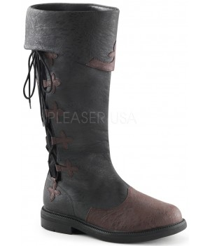 Distressed Black Rennaissance Costume Boots Cosplay Costume Closet Halloween Cosplay Costumes | Kids, Adult & Plus Size Halloween Costumes