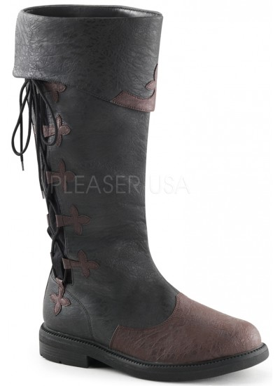 Distressed Black Rennaissance Costume Boots