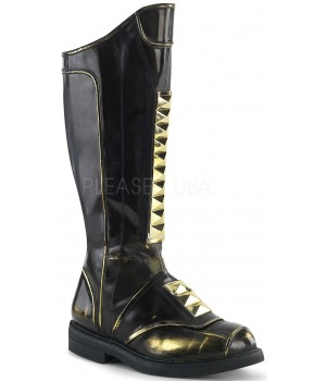 Captain Black Studded Cycle Boots