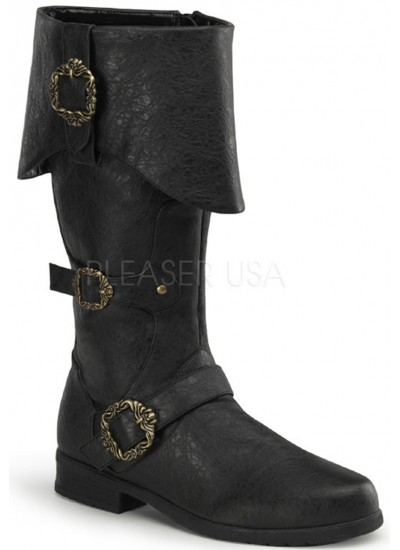 Carribean Distressed Black Pirate Boots at Cosplay Costume Closet Halloween Shop, Halloween Cosplay Costumes | Kids, Adult & Plus Size Halloween Costumes