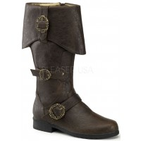 Carribean Distressed Brown Pirate Boots