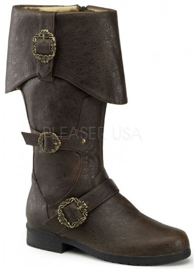 Carribean Distressed Brown Pirate Boots at Cosplay Costume Closet Halloween Shop, Halloween Cosplay Costumes   Kids, Adult & Plus Size Halloween Costumes