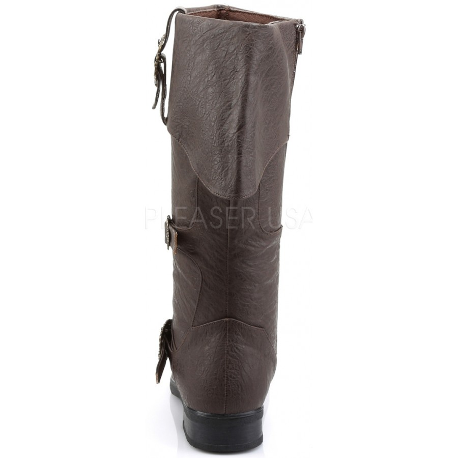 ca9515319c2 Carribean Distressed Brown Pirate Boots - Mens Renne Faire Boots