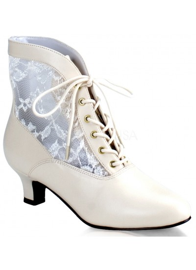 Victorian Dame Ivory Ankle Boot at Cosplay Costume Closet Halloween Shop, Halloween Cosplay Costumes | Kids, Adult & Plus Size Halloween Costumes