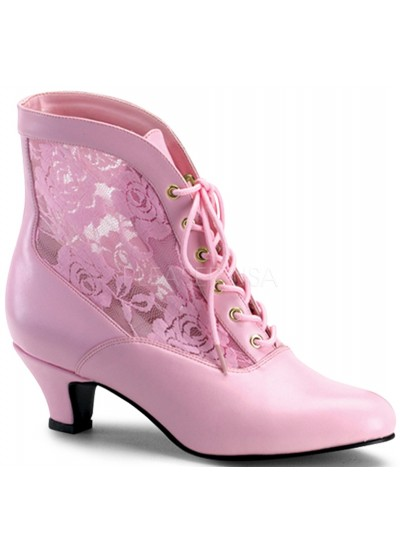 Victorian Dame Baby Pink Ankle Boot at Cosplay Costume Closet Halloween Shop, Halloween Cosplay Costumes | Kids, Adult & Plus Size Halloween Costumes