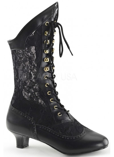 Victorian Dame Black Lace Boot at Cosplay Costume Closet Halloween Shop, Halloween Cosplay Costumes | Kids, Adult & Plus Size Halloween Costumes