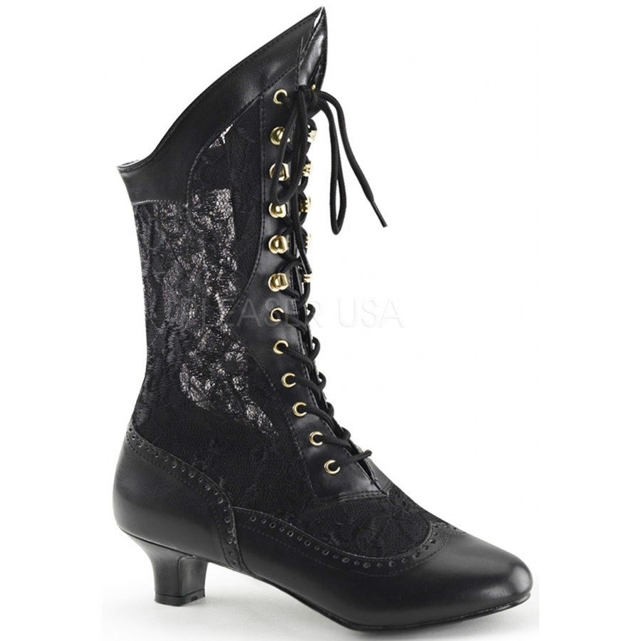 52cd8111c38 Victorian Dame Black Lace Boot