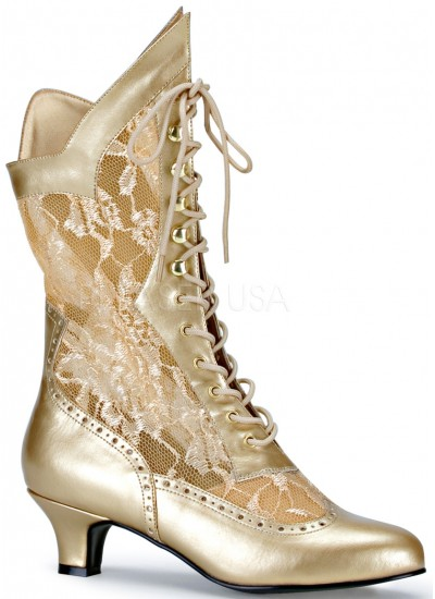 Victorian Dame Gold Lace Boot at Cosplay Costume Closet Halloween Shop, Halloween Cosplay Costumes | Kids, Adult & Plus Size Halloween Costumes
