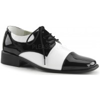 Disco Black and White Costume Shoes