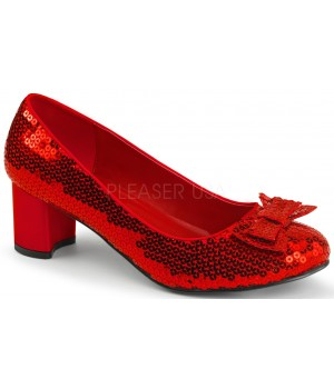 Dorothy Red Sequin 2 Inch Heel Pump Cosplay Costume Closet Halloween Shop Halloween Cosplay Costumes | Kids, Adult & Plus Size Halloween Costumes