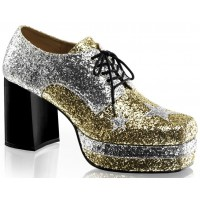 Glamrock 1970s Platform Shoes in Gold and Silver