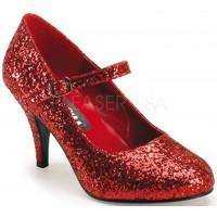Glinda Red Glittered Mary Jane Pump