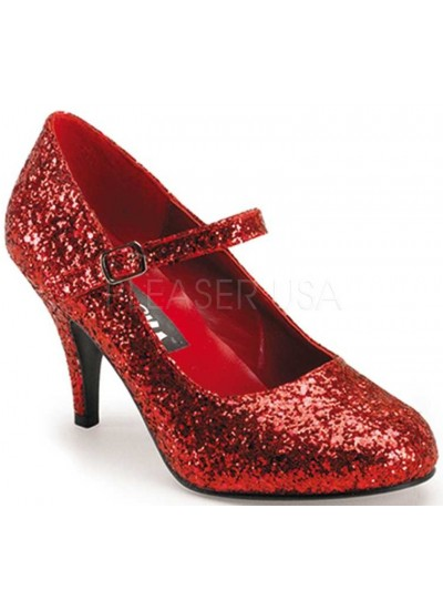 Glinda Red Glittered Mary Jane Pump at Cosplay Costume Closet Halloween Shop, Halloween Cosplay Costumes | Kids, Adult & Plus Size Halloween Costumes